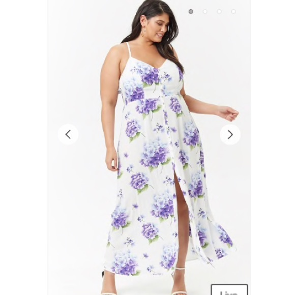 18594657a21 Forever 21 Dresses   Skirts - Plus Size Floral Button-Front Maxi Dress